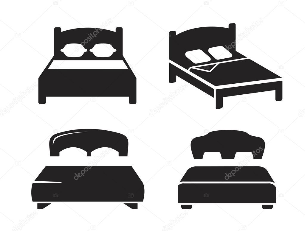 vector negro cama vector de stock bioraven 95597422