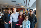 Canadian Citizenship Ceremony — Stock Photo