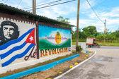 Che Guevara Propaganda Sign in Cuba — Stock Photo