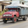 Cuba Old American Truck Transporting Passengers — Stock Photo #53181481