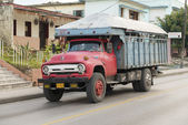 Cuba Old American Truck Transporting Passengers — Stock Photo