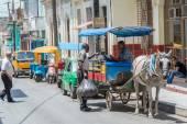 Scene of the commercial area in Santa Clara, Cuba — Stock Photo