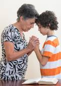 Family Praying or Daily Devotional to God — Stock Photo