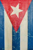 Grungy Cuban Flag a National Symbol — Foto de Stock