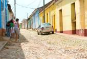 Scènes van Trinidad straten in Cuba — Stockfoto