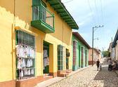 Scenes of Trinidad streets in Cuba — Stock Photo