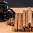 Worldwide famous hand rolled Cuban cigars — Stock Photo #57309135