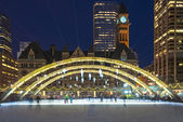 Decorazioni di Natale a Nathan Phillip Square in Toronto — Foto Stock