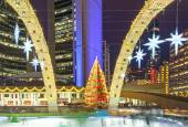 Christmas Decorations at Nathan Phillip Square in Toronto — Stockfoto