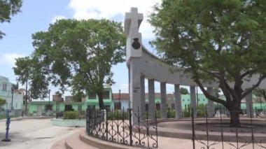 Foundational Monument of Santa Clara city — Stock Video