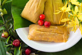 Homemade traditional tamales — Stok fotoğraf