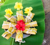 Delicious traditional tamales — Stock Photo