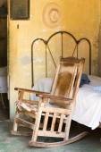 Wooden chair in old home — Stock Photo