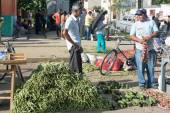 Street sellers of food — Stock Photo
