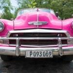 Old American car in Cuba — Stock Photo #61103043