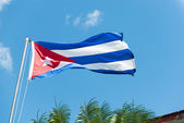 Waving Cuban Flag — Foto de Stock