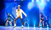 Michael Jackson impersonator performing — Stock Photo