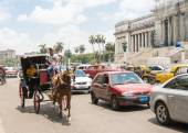 Traffic in central Havana — Stock Photo