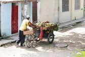 Sąsiedztwo sprzedawca sklep spożywczy — Zdjęcie stockowe