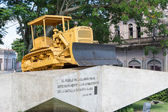 Monument of the tractor in Cuba — Stock Photo