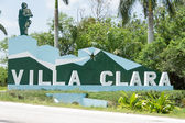 Villa Clara sign near the road — Foto de Stock