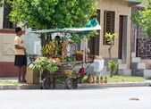 Woman sells fruit in Cuba — Stock Photo