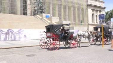 Carriages near El Capitolio — Stock Video