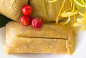 Traditional homemade tamales — Stock Photo