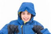 Cute Child Boy Portrait in the Snow — Stock Photo