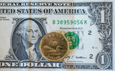 Canadian Dollar or Loonie Continues to Fall Amid Weak Oil Prices — Stock Photo