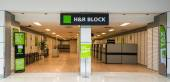 H&R Block Office in a Mall — Stock Photo