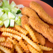 Chicken fingers or chicken nuggets — Stock Photo #69866661