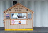 Small Hot Dog Stand, Neighborhood Business — Stock Photo