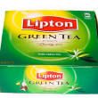 Постер, плакат: Green Tea Lipton Tea in White Background