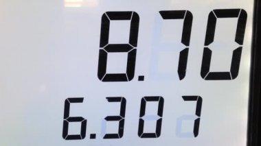 ポンプのガスのコストの上昇 — ストックビデオ