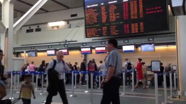 Airport terminal in Vancouver BC Canada. — Wideo stockowe