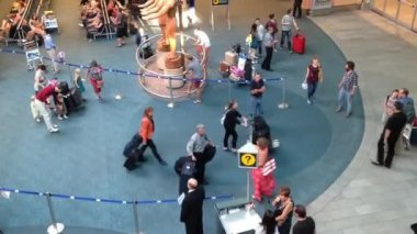 Top shot of airport terminal in Vancouver BC Canada. — Wideo stockowe
