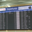 Macro airport departures monitor showing flight gate — Stock Photo #54852739