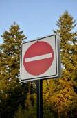 Não digite o sinal — Fotografia Stock