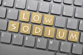 Low sodium key on keyboard — Stockfoto