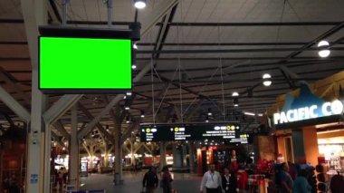 Groene reclamebord voor uw advertentie. — Wideo stockowe