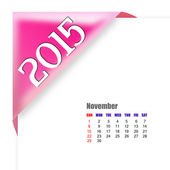 November 2015 - Calendar serie — Stok fotoğraf