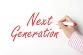 Записи следующего поколения слова на доске — Стоковое фото