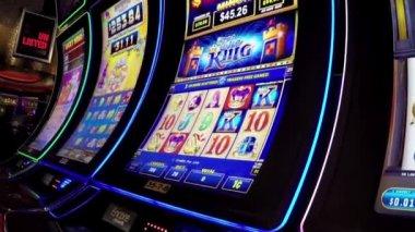 Macro slot machine — Stock Video