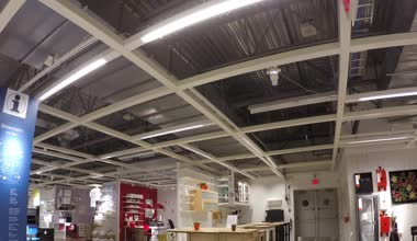 Time lapse of people shopping their furniture  inside Ikea store — Stock Video