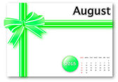 August 2015 - Calendar series — Stock Photo