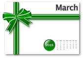 March 2015 - Calendar series — Stock Photo