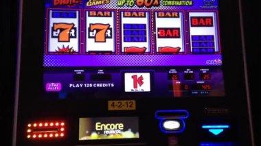 Close up slot machine — Stock Video