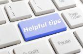 Helpful tips key on keyboard — Stock Photo