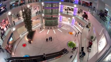 One side of shopping mall in Burnaby BC Canada with wide angle shot — Stock Video
